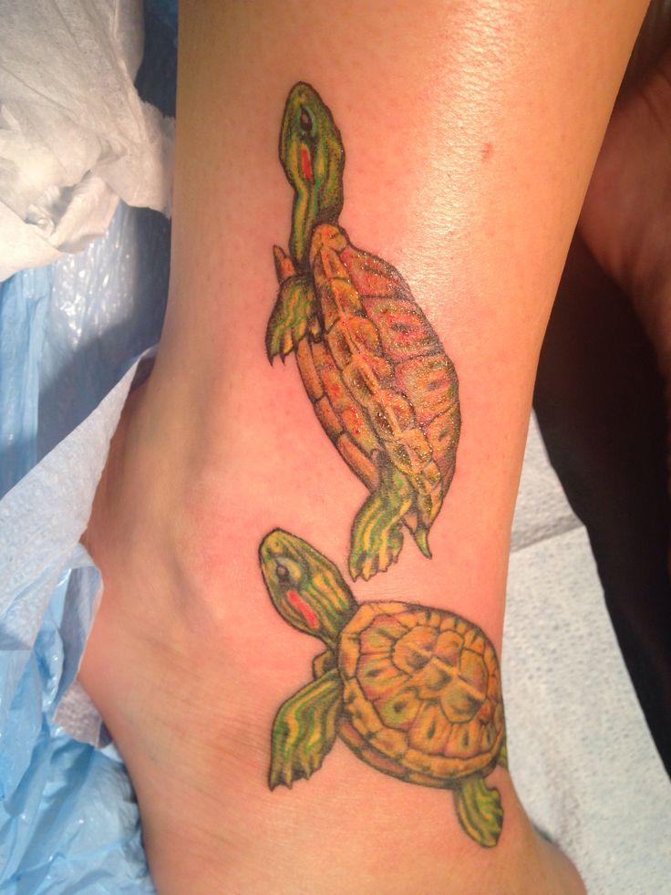 Red eared slider turtle tattoos