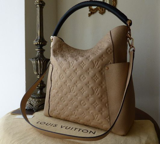 Louis Vuitton Bagatelle in Monogram Empreinte Dune >Pinterest: @jordanlanai