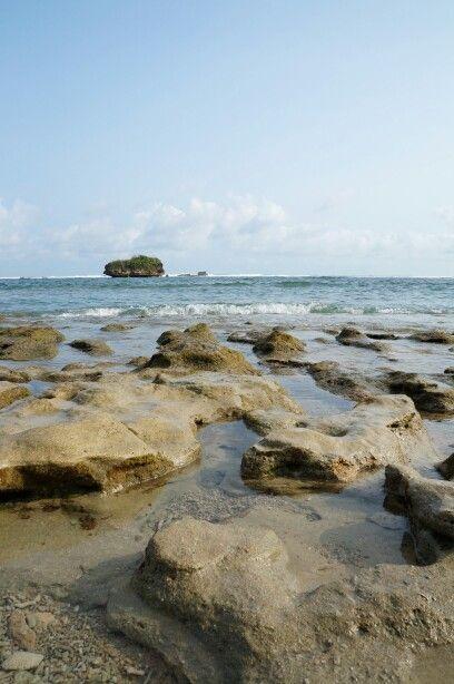 Kondang Merak Beach at Malang East Java, Indonesia  Love those corals at the beach...