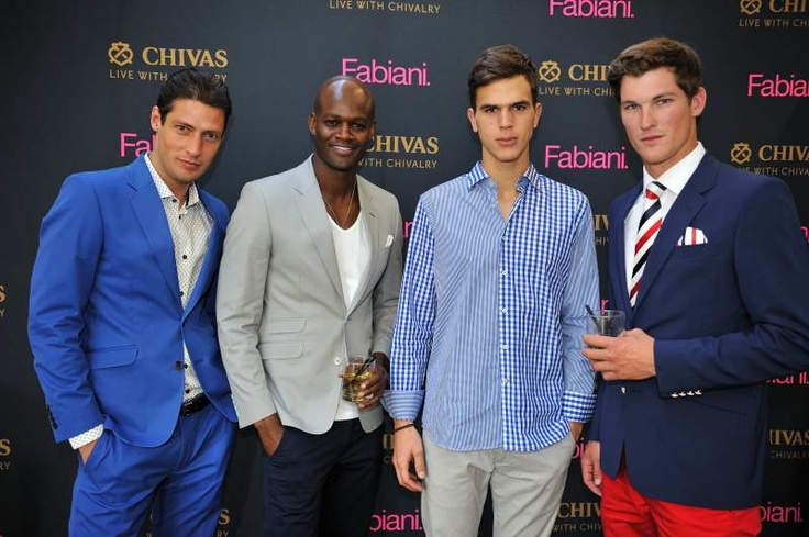 Fabiani Models    At the Fabiani Grand Hotel Launch the Waterfront store was transformed into a scene from a European resort hotel, complete with faux grass, hotel and travel themed decor, and even a putting green. VIP guests enjoyed fine Chivas whisky, high tea treats, with the entertaining modern jazz sounds of Rus Nerwich and the Collective Imagination.