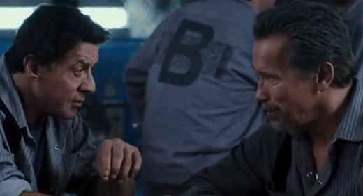 """Arnold Schwarzenegger and Sylvester Stallone are fighting together in a new movie, and it's not """"The Expendables."""" A trailer has been released for their new film, """"Escape Plan."""""""