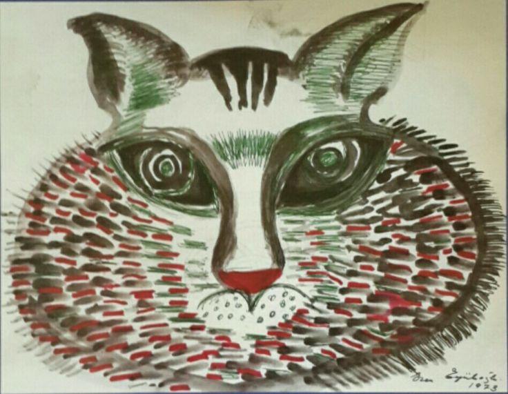 Eren Eyüboğlu, 1973, P Dünya Sanatı Dergisi, Kedi ve Sanat, Sayı 37, Bahar 2005