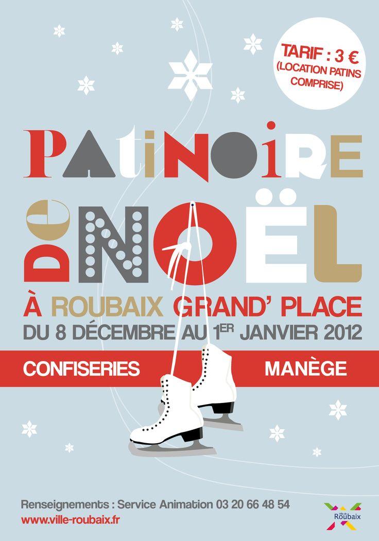 Patinoire de Noël 2012 © création Amandine Derachinois - Ville de Roubaix