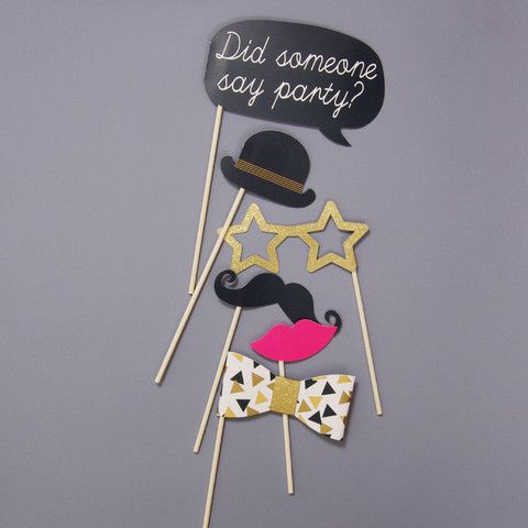 Did Someone Say Party? Photo Booth Props Kit #photo #photobooth