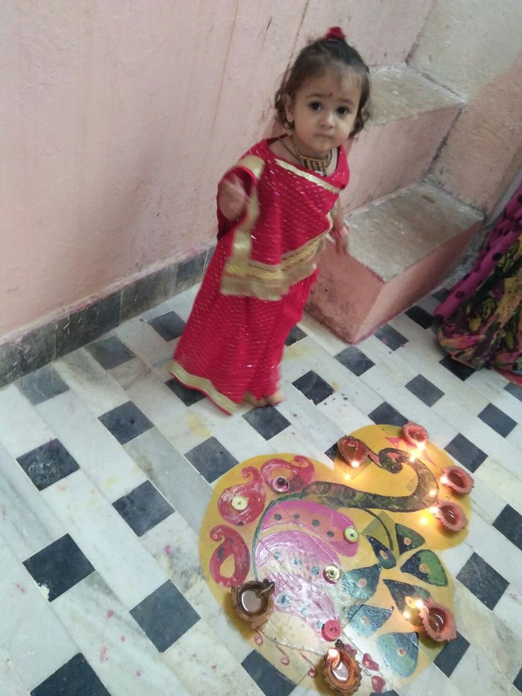 Tiny little saree @ diwali ethnic wear for my doll