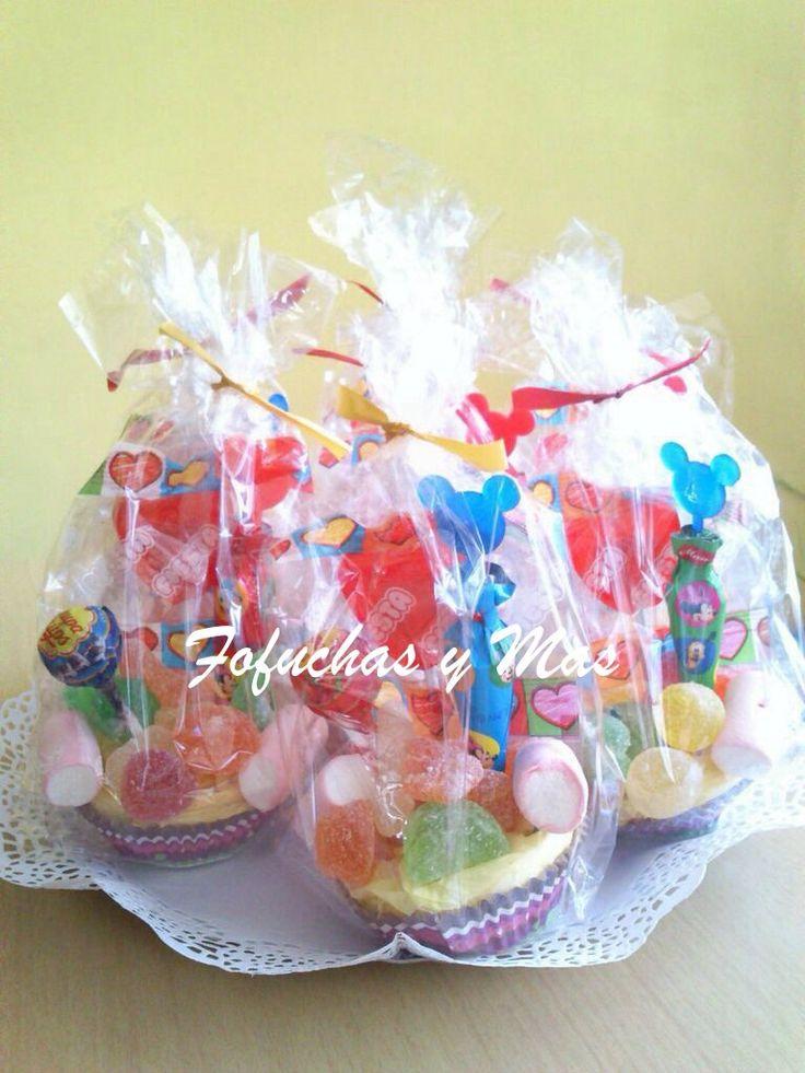 Detalles comuni n cupcakes de chuches para regalar a los - Detalles para ninos ...