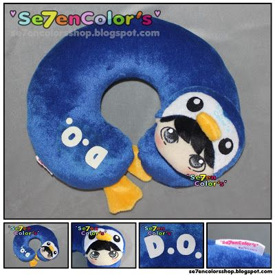 D.O. of EXO -- Neck Pillow Pingu Ver.  #EXO #DO #DODolls #Kpopdolls #ExoDoll
