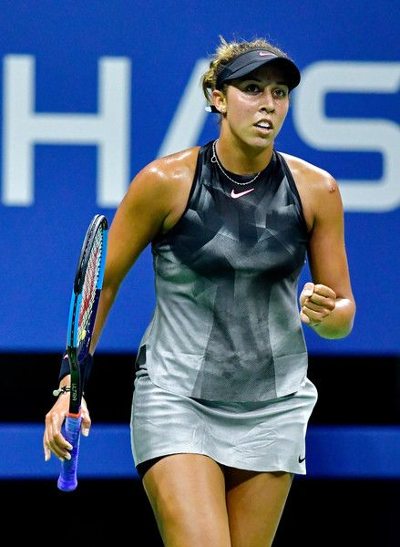 Madison Keys Photos Photos - Madison Keys of the United States returns a shot against Tatjana Maria of Germany during their second round Women's Singles match on Day Four of the 2017 US Open at the USTA Billie Jean King National Tennis Center on August 31, 2017 in the Flushing neighborhood of the Queens borough of New York City. - 2017 US Open Tennis Championships - Day 4