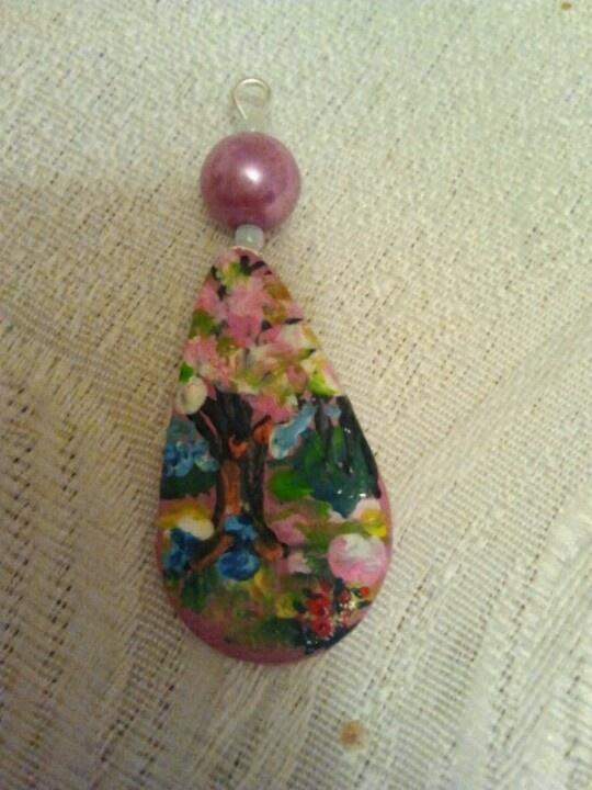 Handmade - miniatural painted ceramic