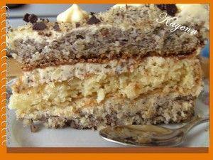 Tort orzechowo - kokosowy. Hazelnut and coconut torte - use google translate to convert polish to engłish.