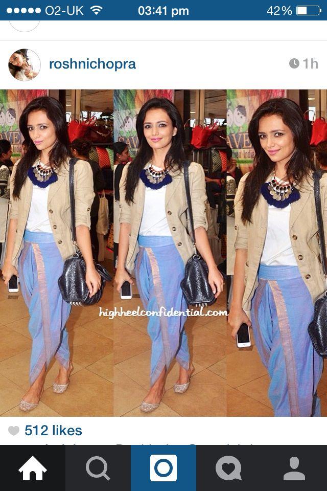 Roshni Chopra creation. I want one of those  dhoti pants!
