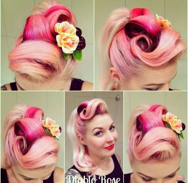 799 best rockabilly pin up hair and makeup images on pinterest diablo rose pin up style inspiration for long hair sigh pmusecretfo Images