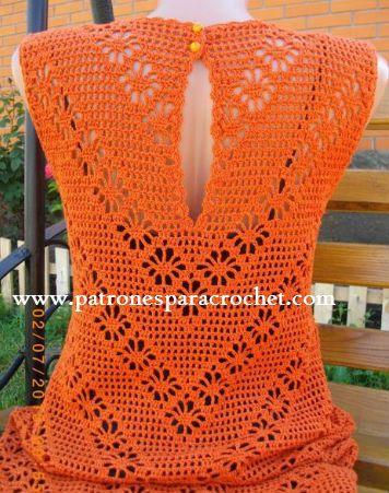 Vestido Crochet Filet y Punto Araña / Paso a paso ~ Patrones para Crochet