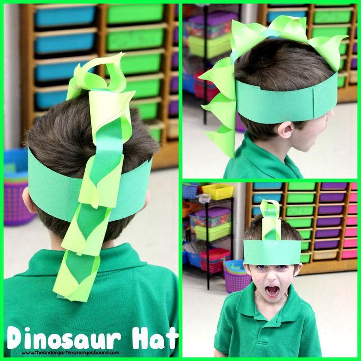 Dinosaur hat!  Make a dinosaur hat to kick off your dinosaur unit!