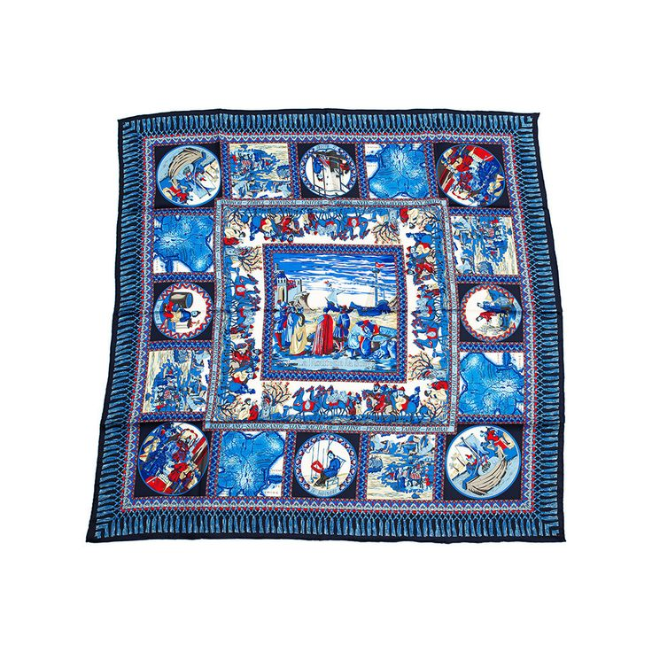 """Route De La Soie: A classic collection from Malfroy and Million, one of the famous scarves & stoles makers in France.  """"Route De La Soie"""" or """"The Silk Route"""" showcases a series of trade and cultural transmission routes where merchants from West and East were connected because of the great fabric, silk. This Silk Route was a significant factor in the development of the civilizations of China, India, Persia, Europe and Arabia. #Silk #Scarf"""