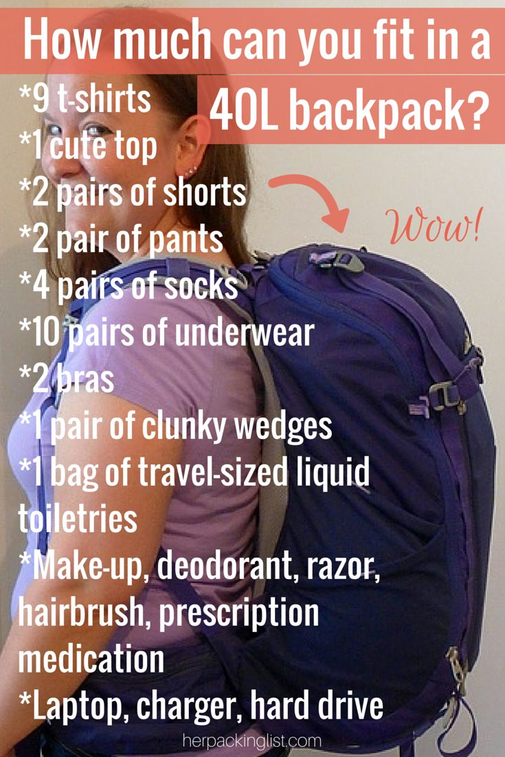 How much can you fit in a 40l backpack? #backpacking