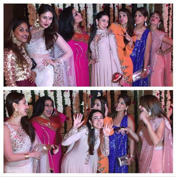 Saif, Kareena, Karisma have a blast at a friend's wedding