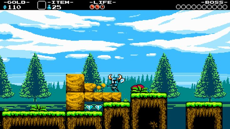 You play as Shovel Knight, a knight who uses a shovel. Description from cross-up.blogspot.com. I searched for this on bing.com/images