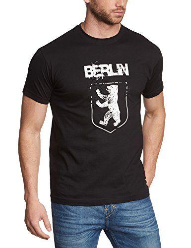 Coole Fun T-Shirts BERLIN vintage Druck  T-Shirt, schwarz, Grösse: S