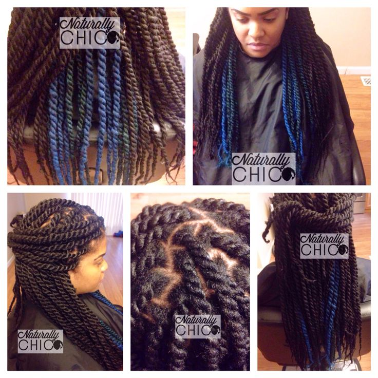 Marley Twists Color 1b Teal Amp Blue Hair Used Freetress