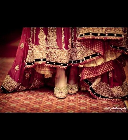 lehnga and shoes - pakistani wedding