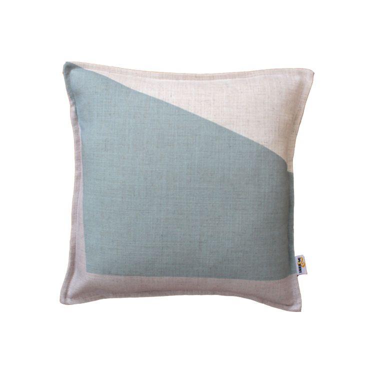 Block Cushion - Blue | $125.00