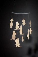 Moomin mobile by Showroom Finland. Handmade Finnish birch.