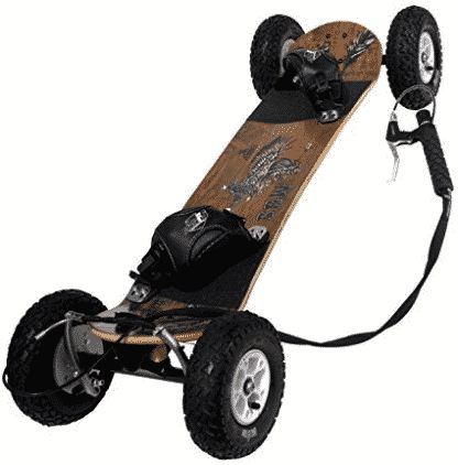 "MBS Comp 95X Mountainboard, 46"", Wood Grain Brown"