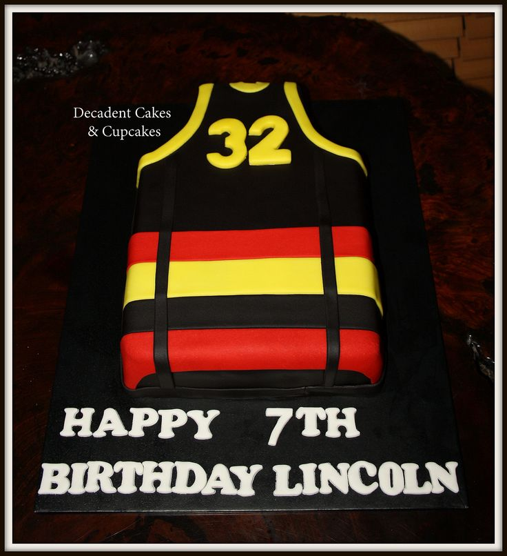 ♥ AFL Adelaide Crows Guernsey ♥ Made By Decadent Cakes & Cupcakes