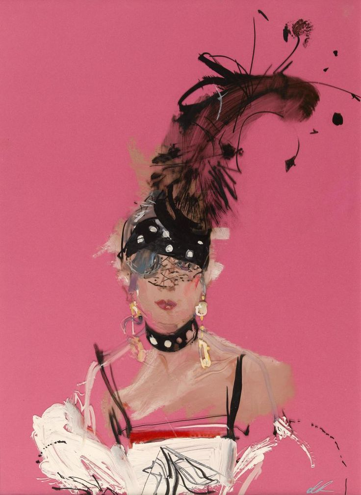 Portrait d'Anna Piaggi, David Downton © David Downton / Galliera / Roger-Viollet