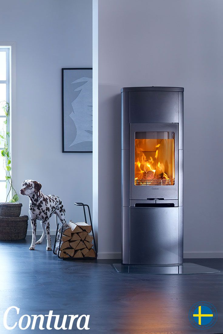 CONTURA 790K black | The woodburner is fully clad in attractive satin matt, black tiles. Add a heat tank for even longer lasting heat.