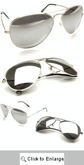 Brad's Mirrored Aviators Classics 217 Sunglasses