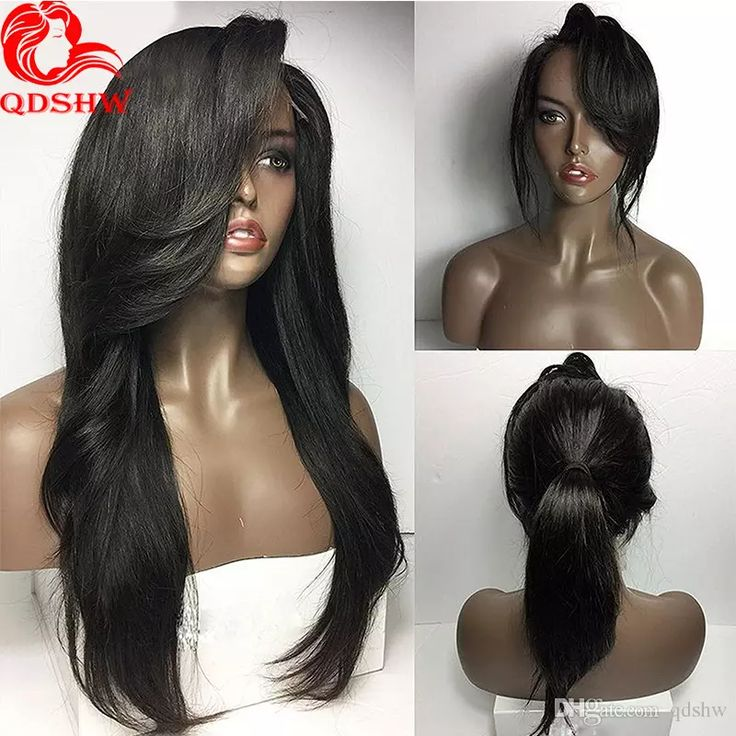 Full Lace Wigs With Bangs Natural Straight Glueless Full Lace Human Hair Wigs Bleached Knots Virgin Peruvian Human Hair Lace Wig Side Bangs Full Lace Wigs with Bangs Glueless Full Lace Human Hair Wigs Human Hair Lace Wig Side Bangs Online with $365.63/Piece on Qdshw's Store | DHgate.com