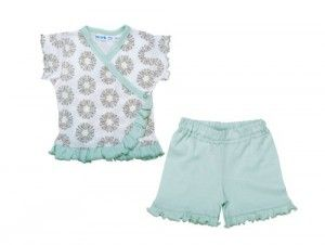 UNDER THE NILE APPAREL Baby-Girls Infant Shirt with Short Set