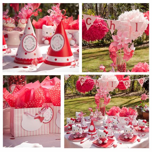Hello Kitty Theme: Party'S, Hello Kitty Birthday, Kitty Party, Hellokitty, Ideas Party, Party Ideas, Hello Kitty Parties, Birthday Party, Birthday Ideas