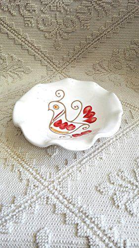 Ciotola smerlata cm 15 Rossa, handmade