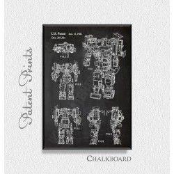 Transformer Devastator Patent Print