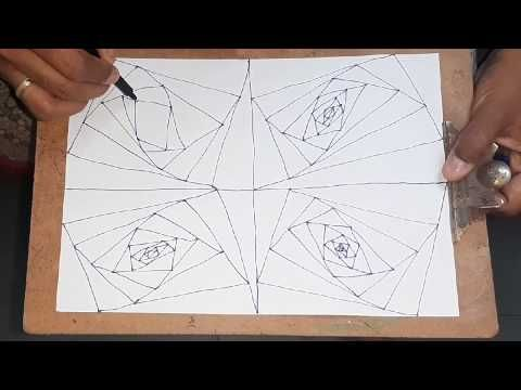 spiral straight drawing easy illusion lines line patterns pattern drawings illusions madhu
