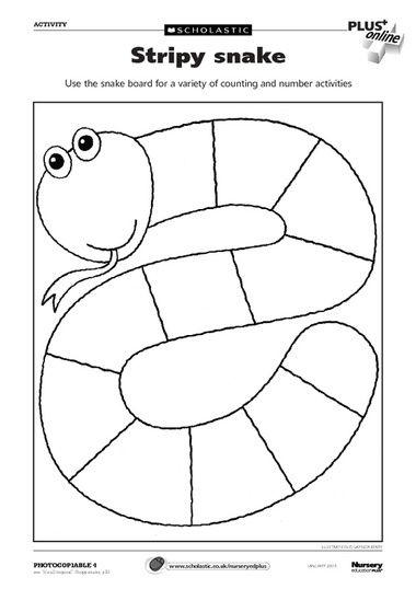 Stripy snake activity – FREE Early Years teaching resource - Scholastic