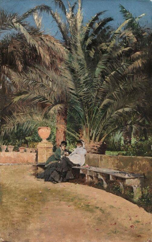 Conversazione in giardino Giuseppe de Nittis