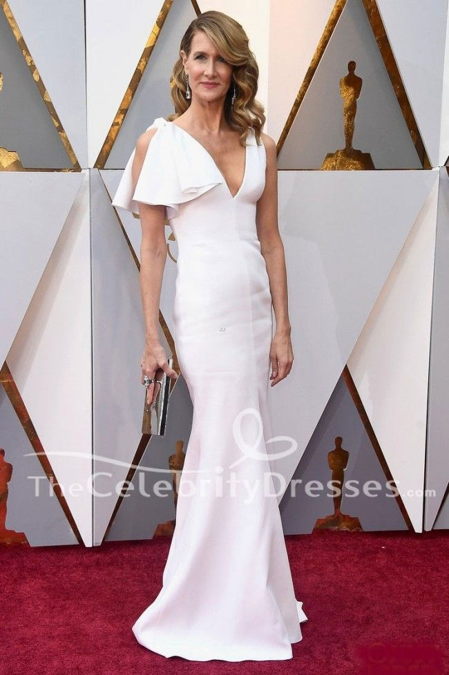 Laura Dern White Formal Dress 2018 Oscars Red Carpet Evening Gown ...