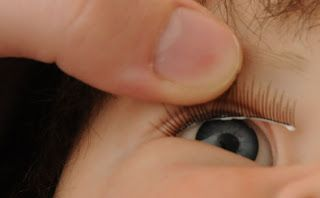Bitsy Bundles | Reborn Doll Blog  --  How to fix reborn eyelashes.