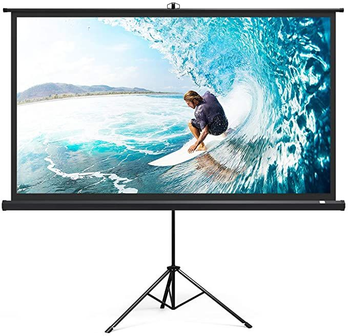 Amazon Com Taotronics Projector Screen With Stand Tt Hp020 Indoor Outdoor Movie Proje In 2020 Outdoor Movie Screen Outdoor Projection Screen Inflatable Movie Screen