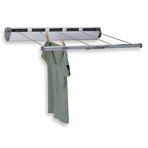 Household Essentials™ 5-Line Retractable Clothes Dryer - Set this 5-line retractable dryer up outdoors or indoors to air dry your clothes and linens.The 5-line system offers 170 feet of drying space, extending to 34 feet. : bedbathandbeyond