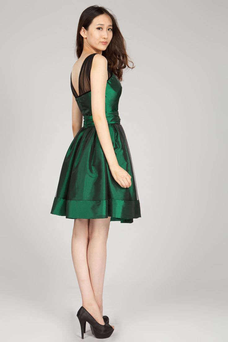 15 best Green Cocktail Dress images on Pinterest | Party wear ...