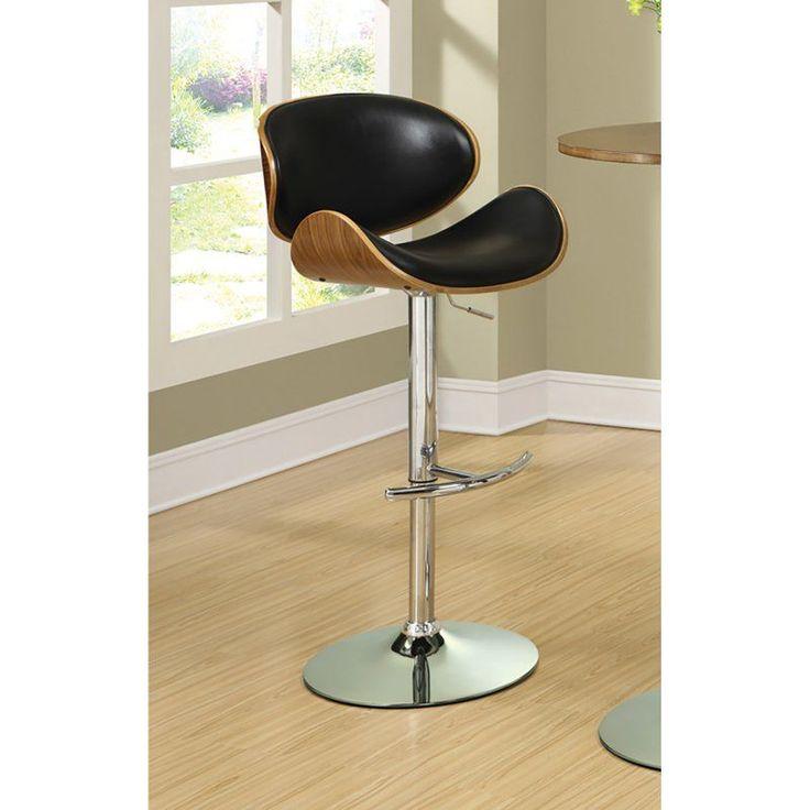 Coaster Furniture 37 in. Contoured Adjustable Bar Stool Black - 130504
