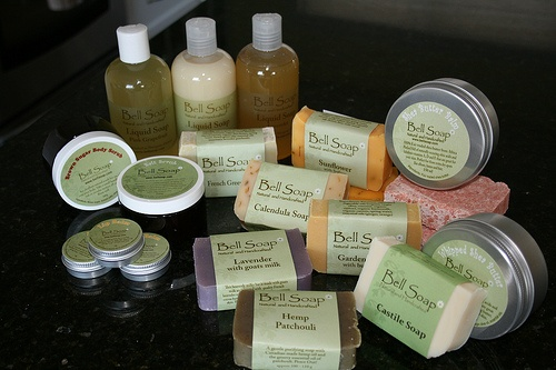 Organic Bell Soaps, butters, scrubs and balms ~ www.bellsoap.com ~ available at Mariposa Design ~ Perth, Ontario