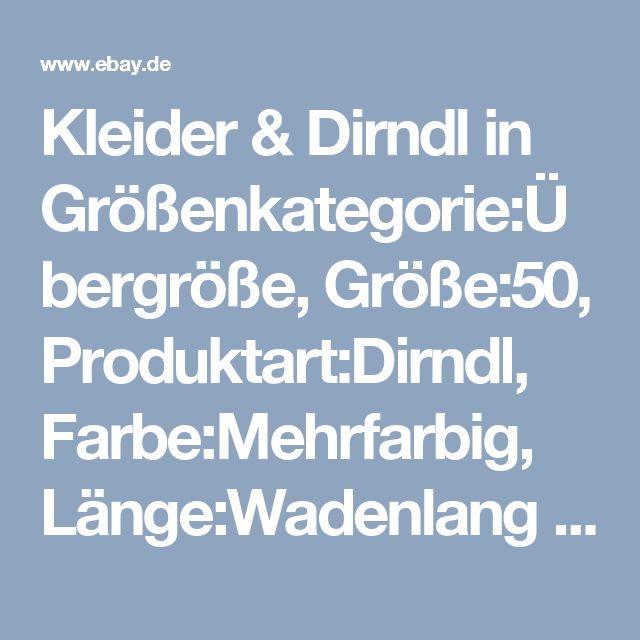 Kleider & Dirndl in Größenkategorie:Übergröße, Größe:50, Produktart:Dirndl, Farbe:Mehrfarbig, Länge:Wadenlang | eBay
