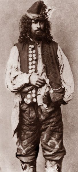 "A Kalderari Romani man. 1865. A photo from J.Ficowsky's book ""Gypsies in Poland""."