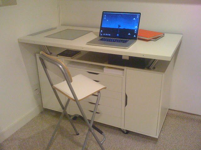 Alex work table with flat files ikea hackers ikea for Ikea drafting table with lightbox